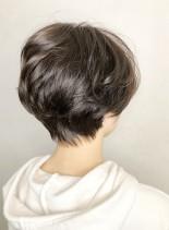 上戸彩風パーマでふんわりお手軽ショート(髪型ショートヘア)