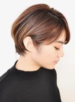 乾かすだけでまとまる大人ショートボブ☆(髪型ショートヘア)