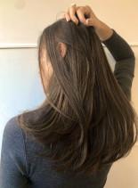 透け感ヌードアッシュブルー(髪型ロング)