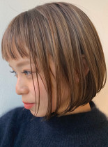 30代40代◎白髪カバーおしゃれミニボブ(髪型ボブ)