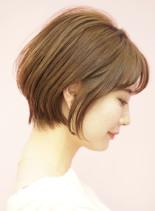 手入れ簡単☆耳掛け美人ショートボブ(髪型ショートヘア)