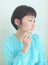 耳かけショートボブ(髪型ショートヘア)