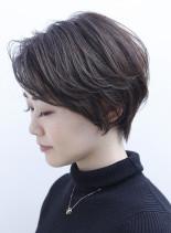 ☆ひし形シルエットの大人ショート☆(髪型ショートヘア)