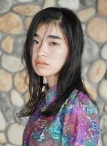 大人ツヤセミディ☆ シースルーバング(髪型セミロング)