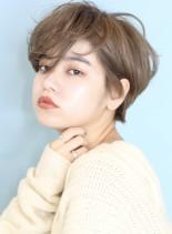 前髪長めの耳掛けショートヘア☆(髪型ショートヘア)