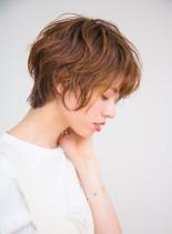大人のリアルパーマショート(髪型ショートヘア)