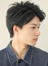 浅めツーブロックの大人メンズヘア(髪型メンズ)