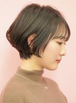 手入れ簡単☆大人の似合わせショートボブ(髪型ショートヘア)