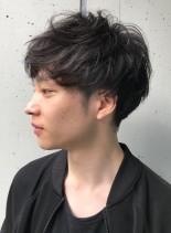 マッシュツーブロック◇前髪長めスタイル◇(髪型メンズ)
