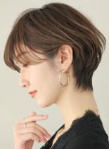 30代40代 大人かわいい耳かけショート(髪型ショートヘア)