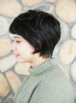 大人可愛いナチュラルショート(髪型ショートヘア)