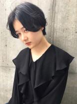 ウエットショート(髪型ショートヘア)