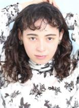 外国人風カーリーヘア☆(髪型ミディアム)