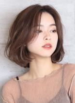 ひし形シルエットボブ(髪型ボブ)
