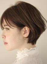 襟足スッキリ丸みショートヘア(髪型ショートヘア)
