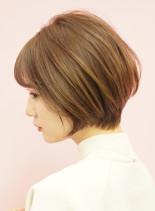 手入れ簡単☆大人かわいい丸みショートボブ(髪型ショートヘア)