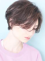 ハンサムパーマ*小顔ショートボブ(髪型ショートヘア)