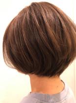 すきばさみを使わないショートボブスタイル(髪型ショートヘア)