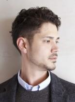 くせ毛×刈り上げパーマベリーショート(髪型メンズ)