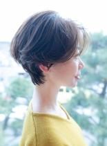 似合わせハンサムショートボブ(髪型ショートヘア)