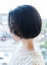 大人ミニボブ(髪型ショートヘア)