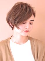 30代40代 大人かっこいいショートボブ(髪型ショートヘア)