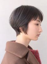 大人キレイなコンパクトショートボブ(髪型ショートヘア)