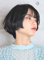 小顔丸みショートボブ(髪型ショートヘア)