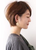 大人のフレンチ丸みショート☆(髪型ショートヘア)
