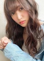 愛されバング☆ライトラベンジュ(髪型ロング)