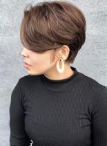 くびれハンサムショート(髪型ショートヘア)
