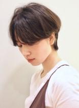 前髪長め*大人ショート(髪型ショートヘア)