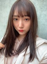 イルミナカラー&小顔ストレートロング☆(髪型セミロング)