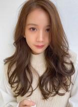 小顔デジタルパーマ&イルミナカラー(髪型ロング)