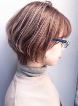 30代40代ボリュームショートパーマ(髪型ショートヘア)