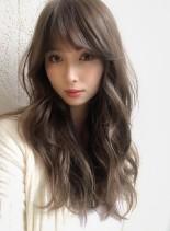モテカワバング☆アッシュブラウン(髪型ロング)