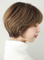 大人かわいい丸みショート(髪型ショートヘア)