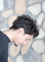 ナチュラルカーリーヘア(髪型メンズ)