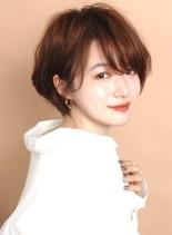 ワンカールパーマ☆大人のふんわりショート(髪型ショートヘア)