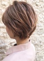 30代40代ひし形エアリーショート(髪型ショートヘア)