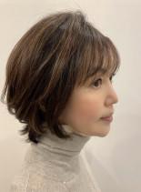 40代50代大人かわいいひし形ショート(髪型ショートヘア)