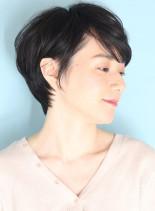 30代40代50代の美シルエットショート(髪型ショートヘア)