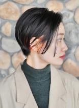 大人ツヤショートボブ ☆ インナーカラー(髪型ショートヘア)