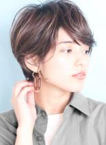 30代40代小顔丸みショート☆(髪型ショートヘア)
