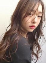 大人かわいい暗髪カラー&デジタルパーマ(髪型ロング)
