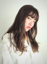 オリーブベージュ(髪型ロング)