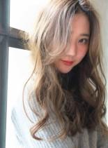 イルミナカラー☆大人可愛いデジタルパーマ(髪型ロング)