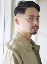 刈り上げサイドパートショートヘア(髪型メンズ)