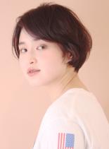 春ヘア☆大人カジュアルショートボブヘア(髪型ショートヘア)