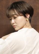 横顔美人☆大人ひし形ショート(髪型ショートヘア)